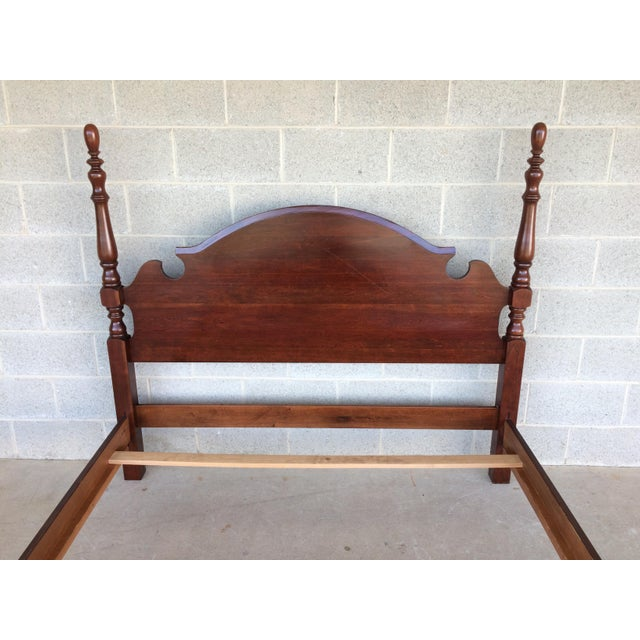 Chippendale Pennsylvania House Chippendale Style Queen Poster Bed For Sale - Image 3 of 10
