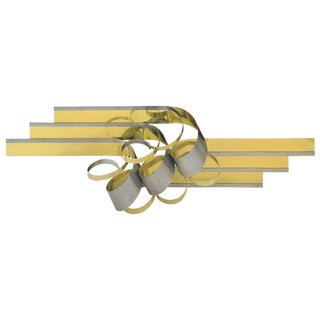 C. Jere Metal Ribbon Form Wall Sculpture For Sale