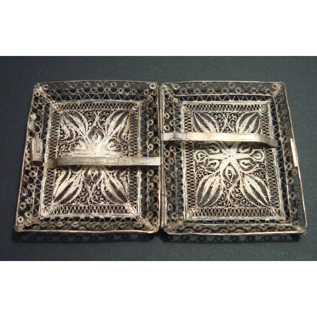 Vintage Filigree Silver Cigarette Case - Image 4 of 6