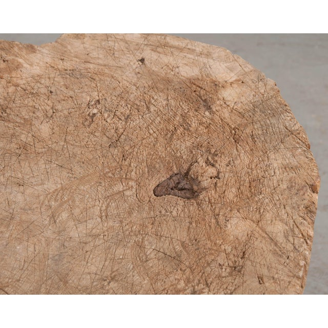 """Mid 19th Century French 19th Century Provincial """"Tree Trunk"""" Chopping Block For Sale - Image 10 of 13"""