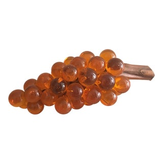 Oversized Orange Lucite Grapes