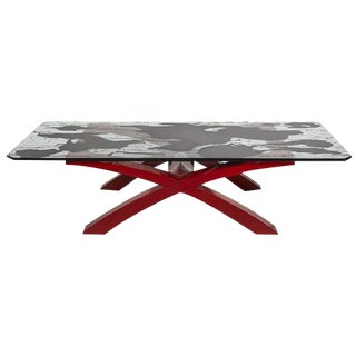 Contemporary Black Splash Coffee Table For Sale