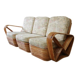 Bamboo Pretzel Sofa Attributed to Paul Frankl