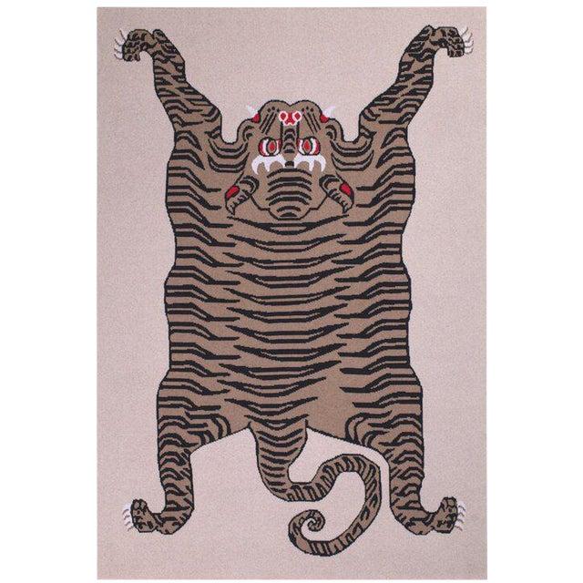 Tiger Cashmere Blanket, Natural, Queen For Sale
