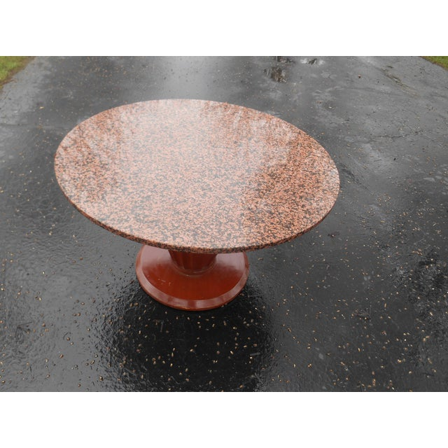 20th Century French Art Deco Round Marble Top Coffee/Cocktail Table For Sale - Image 4 of 7
