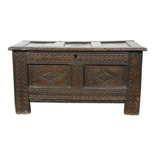Jacobean Oak Coffer Chest For Sale