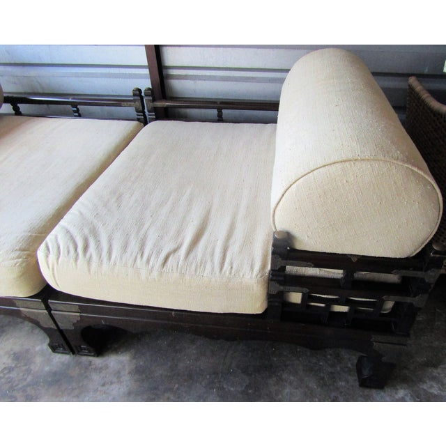 Metal 1970s Vintage Asian Style Day Bed For Sale - Image 7 of 10
