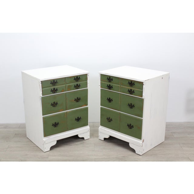 Pair of Mid-Century 3-Drawers Nightstands, Provincial Nightstands For Sale - Image 11 of 11
