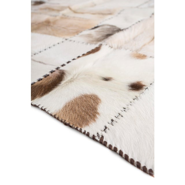 """Hand Stitched Goatskin Patchwork Area Rug - 5'1"""" x 8'1"""" - Image 8 of 9"""