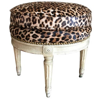 Louis XVI Style Stool in the Manner of Maison Jansen, 20th Century For Sale