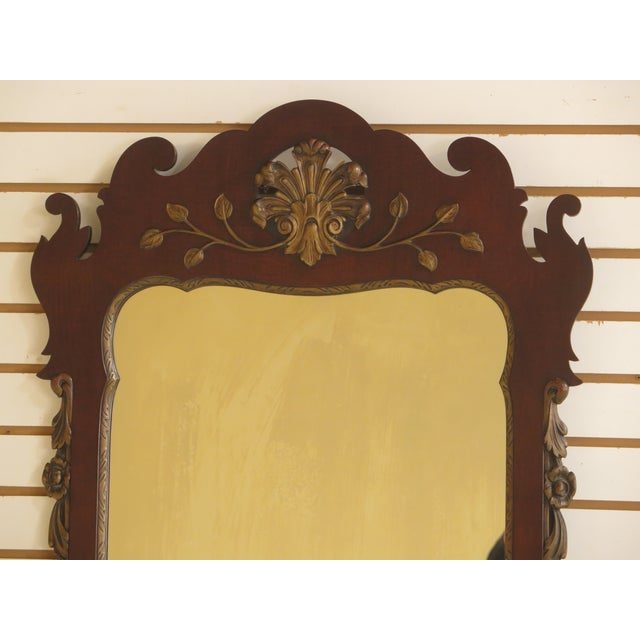 KINDEL Georgian Style Mahogany Mirror Age: Approx. 60 Years Old Details: High Quality Construction Older Vintage Mirror...