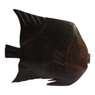 Carved Ironwood Angel Fish Figurine For Sale