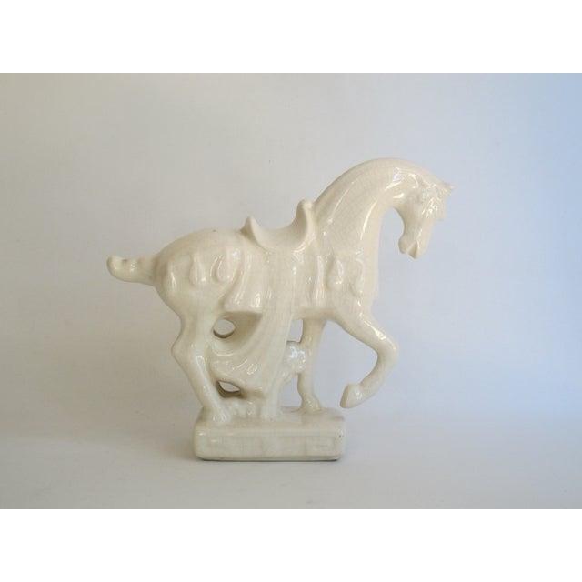 White Chinese Porcelain Horse - Image 5 of 8