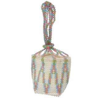 Vintage Coppola E Toppo Italian Plastic Beaded Bag For Sale