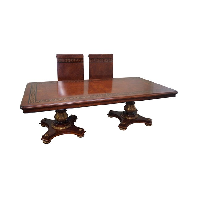 Rho Mobili d'Epoca Burl Wood Dining Table For Sale