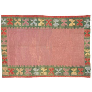 "1950s Anatolian Kilim Rug - 7'10"" X 5'5"" For Sale"