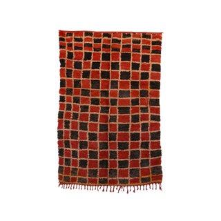 """Boujad Vintage Moroccan Rug, 4'9"""" X 7'5"""" Feet"""