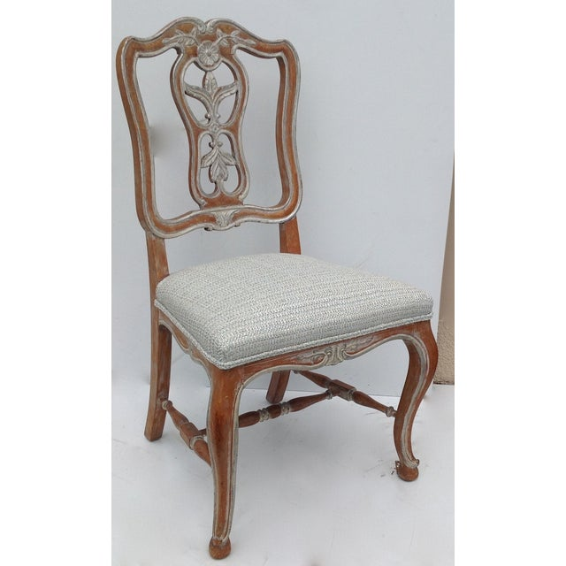 Antique French Parcel Gilt Accent Chair - Image 6 of 11