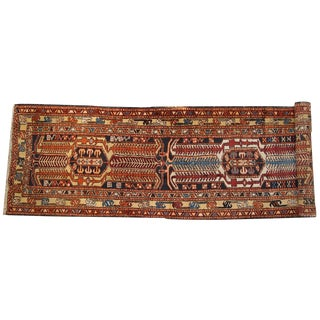 1930s Hand Made Persian Heriz Runner - 3.4' X 13.6' For Sale