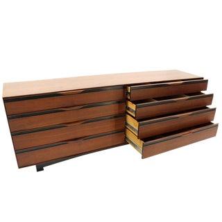 Long Teak Dresser Credenza by John Stuart For Sale