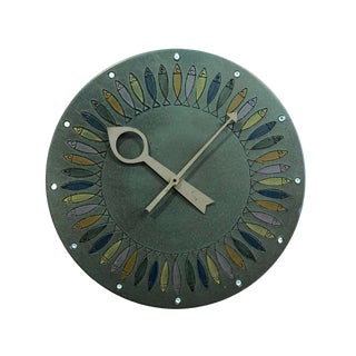 Rare Bitossi Fish Meridian Clock, 1960's For Sale