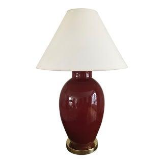 Kravet Jude Lamp in Garnet For Sale