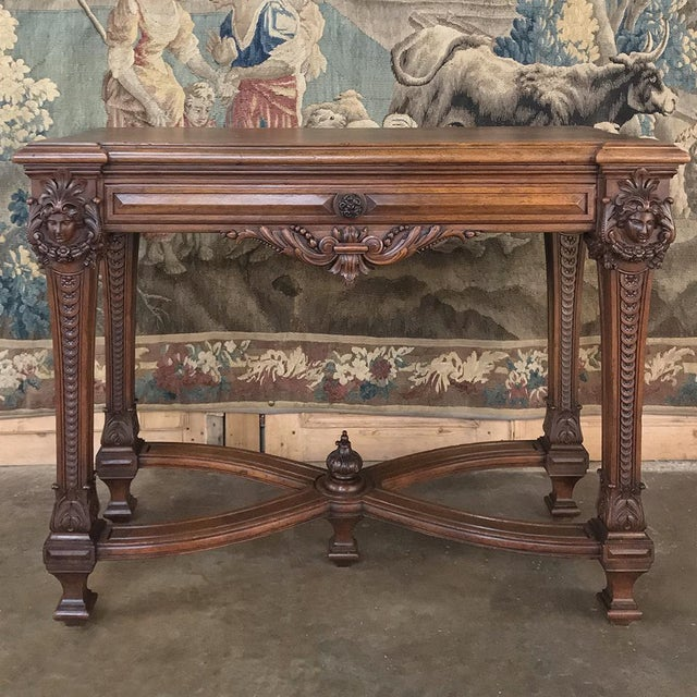 19th Century French Louis XIV Walnut Console For Sale - Image 13 of 13