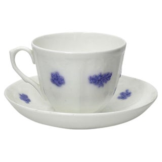 English Lavender Sprig Cup & Saucer For Sale