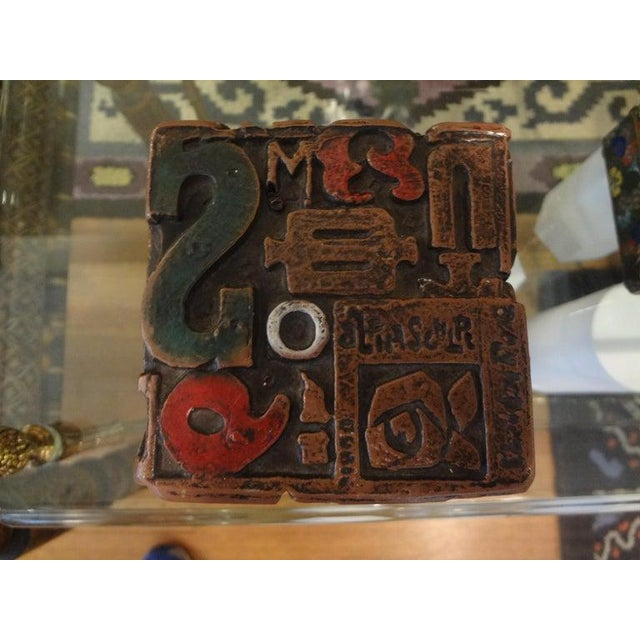 Mid Century Modern Alpha Cube Sculpture by Sheldon Rose For Sale In Houston - Image 6 of 13