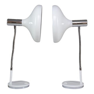 Pair of Articulating Table Lamps, 1970s For Sale