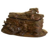 Image of 20th Century Black Forest Wooden Box For Sale