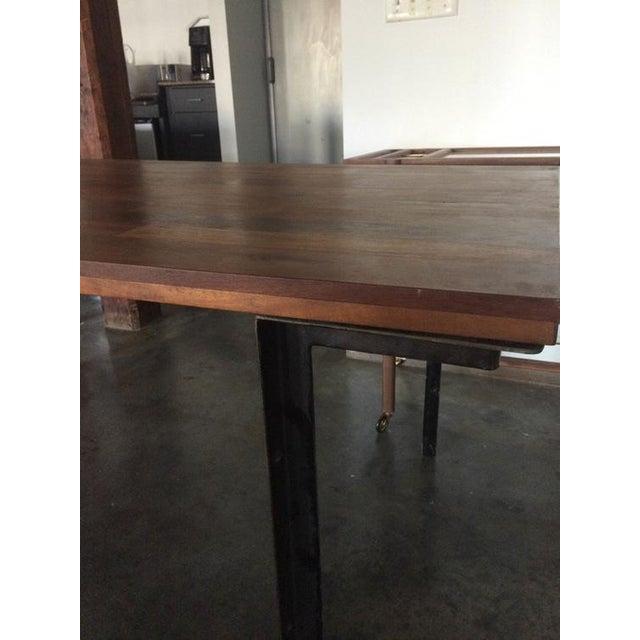 West Elm Wood & Metal Industrial Dining Table - Image 6 of 6