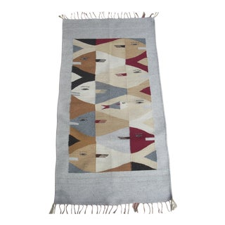 Handwoven Scandinavian Wall Hanging For Sale