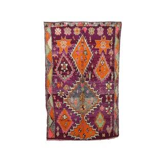 "Boujad Vintage Moroccan Rug - 6'6"" X 10'2"" For Sale"