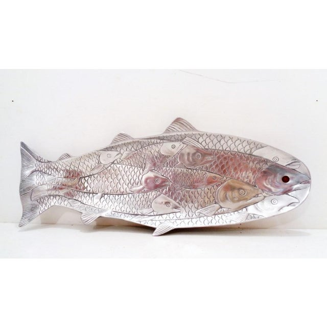 Silver Arthur Court School of Salmon Aluminum Fish Serving Tray Platter For Sale - Image 8 of 8