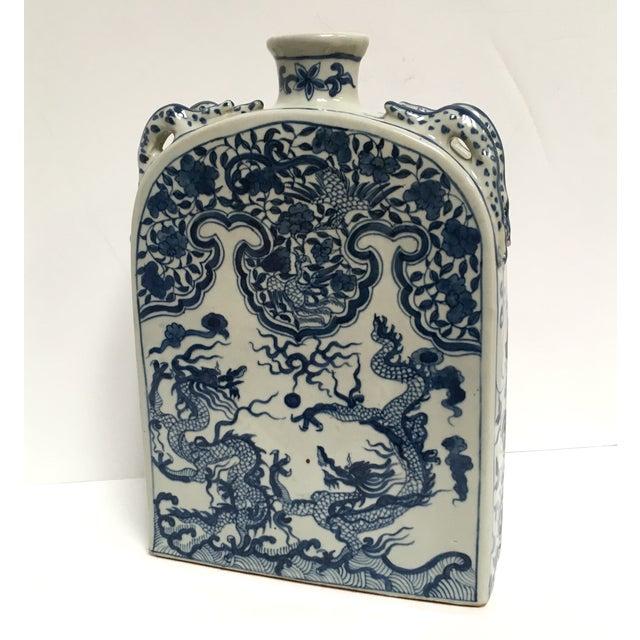 Blue Chinese Dragon Flat-Front Vase - Image 2 of 11