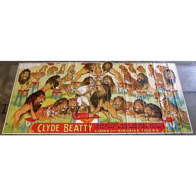 Gigantic Clyde Beatty Circus Poster - Image 2 of 7