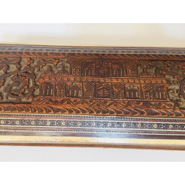 Late 19th Century Antique Anglo Indian Mother of Pearl Inlay Box For Sale - Image 5 of 12