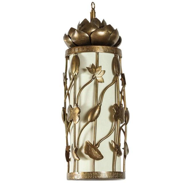 Brass Lotus Pendant - Image 1 of 10