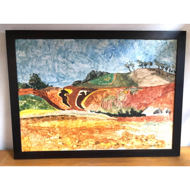 This rare California scene by acclaimed artist Tom Van Sant, painted in oil or gouache on board, is a true find and...