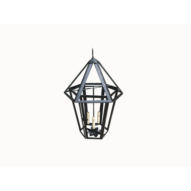 C.1930s French Octagonal Top Lantern, Newly Rewired For Sale - Image 11 of 11