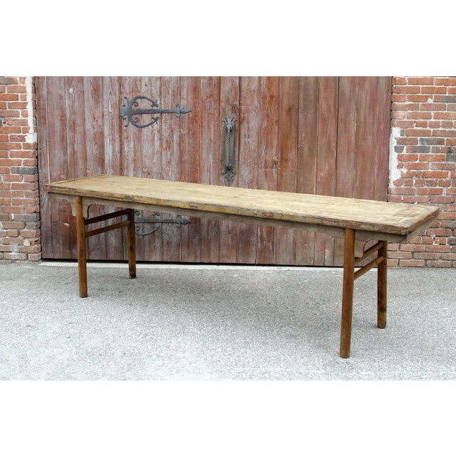 Asian Long Mid 18th Century Altar Table For Sale - Image 3 of 7