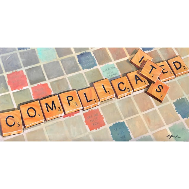 """""""It's Complicated"""" Original Artwork by Kathleen Keifer For Sale - Image 9 of 9"""