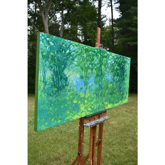 """A Midsummer Day's Dream"" Large (32"" X 80"") Contemporary Painting by Stephen Remick For Sale - Image 10 of 11"