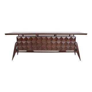 Mid-Century Mexican Modernist Mahogany Credenza For Sale