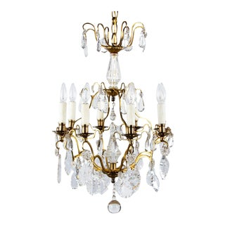 French Napoleon III Crystal Chandelier, 1870s