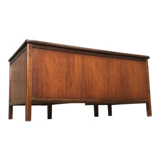 Jasper Mid-Century Modern Walnut Executive Desk