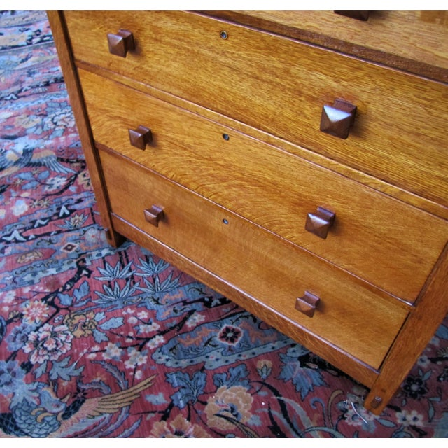 Arts & Crafts 1900s Arts and Crafts Gustav Stickley Chest of Drawers For Sale - Image 3 of 13