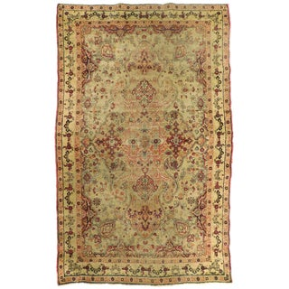 """Antique Lavar Kermon Hand-Knotted Luxury Rug - 4'1"""" x 6'6"""" For Sale"""