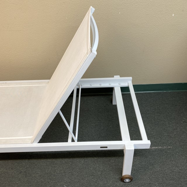 Mamagreen Allux White Outdoor Lounger For Sale - Image 11 of 13